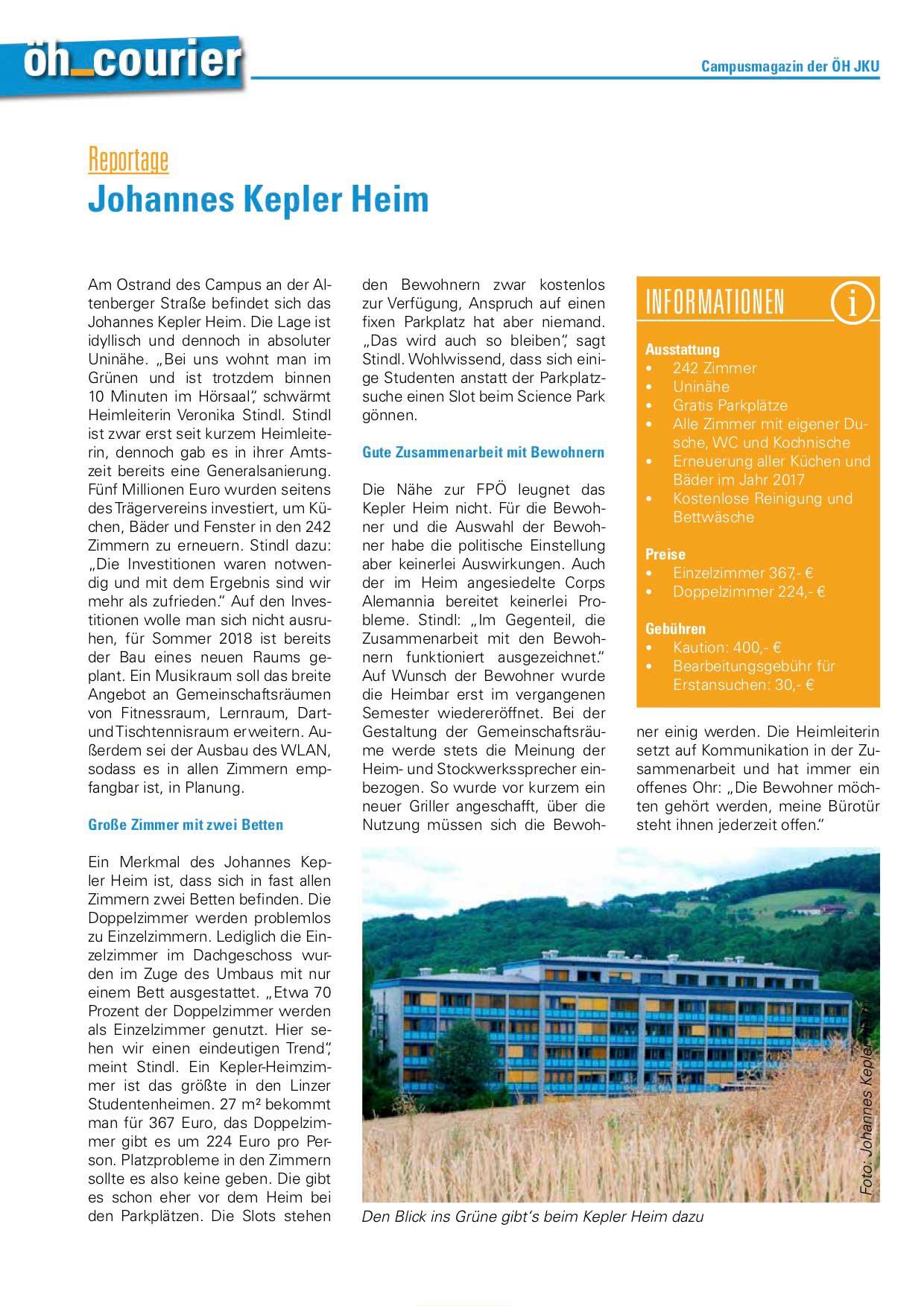 Presse JKU vom ÖH Courier